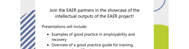 EAER Final Multiplier Event Thursday the 28th January 2021 – 9:30am-12:30pm- Don't Miss out !