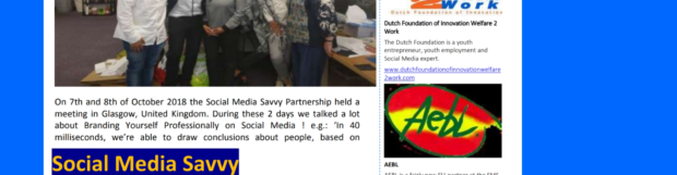 Social Media Savvy Partnership – SMS Newsletter
